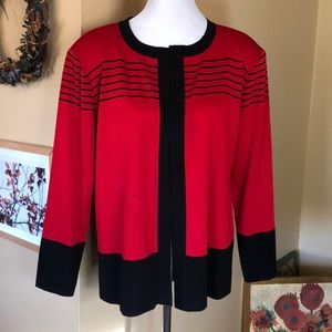 MISOOK size XL Open-Front Cardigan Classic $299new
